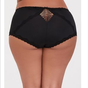 TORRID BLACK MICROFIBER SEXY BRIEF PANTIES Size 1